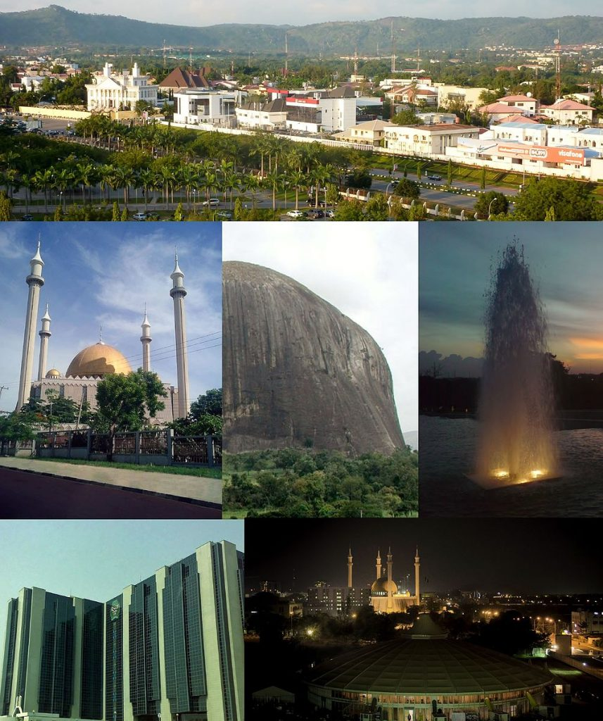 Diverse landscape of Abuja, Capital of Nigeria