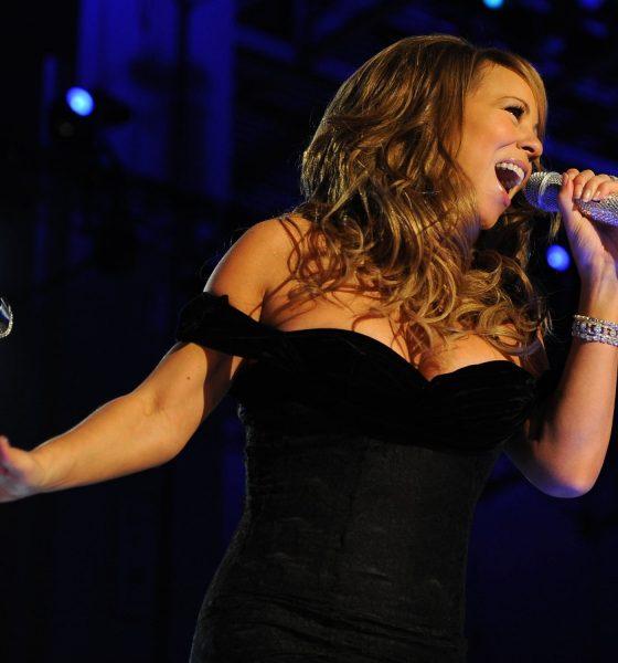 Mariah Carey holding mic