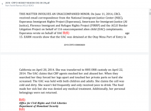 Details of abuse by cbp officials