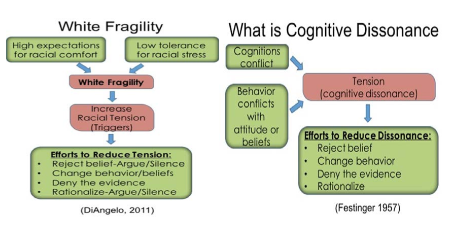 Relation of White Fragility to Cognitive Dissonance