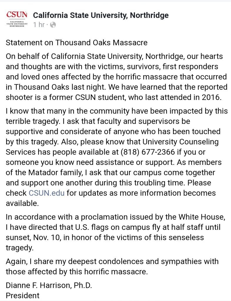 CSUN President Statement