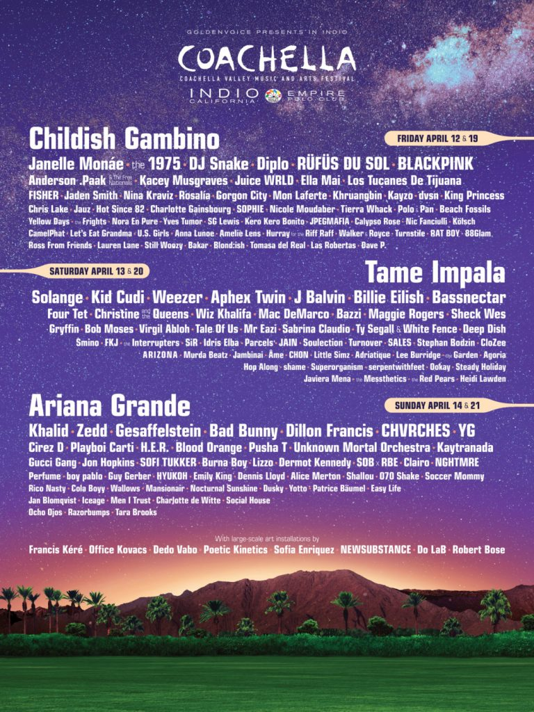 Coachella 2019 lineup